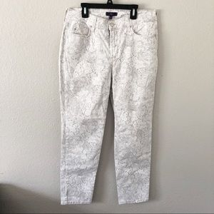 NYDJ Paisley Print Skinny Jeans